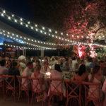 Mise en lumière du repas en région paca pour une soirée privée type mariage