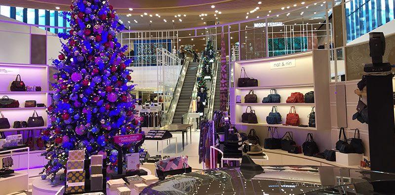 Decoration de noel centre commercial