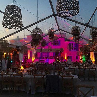 decoration mariage tente lustre evenement var paca mise en lumière